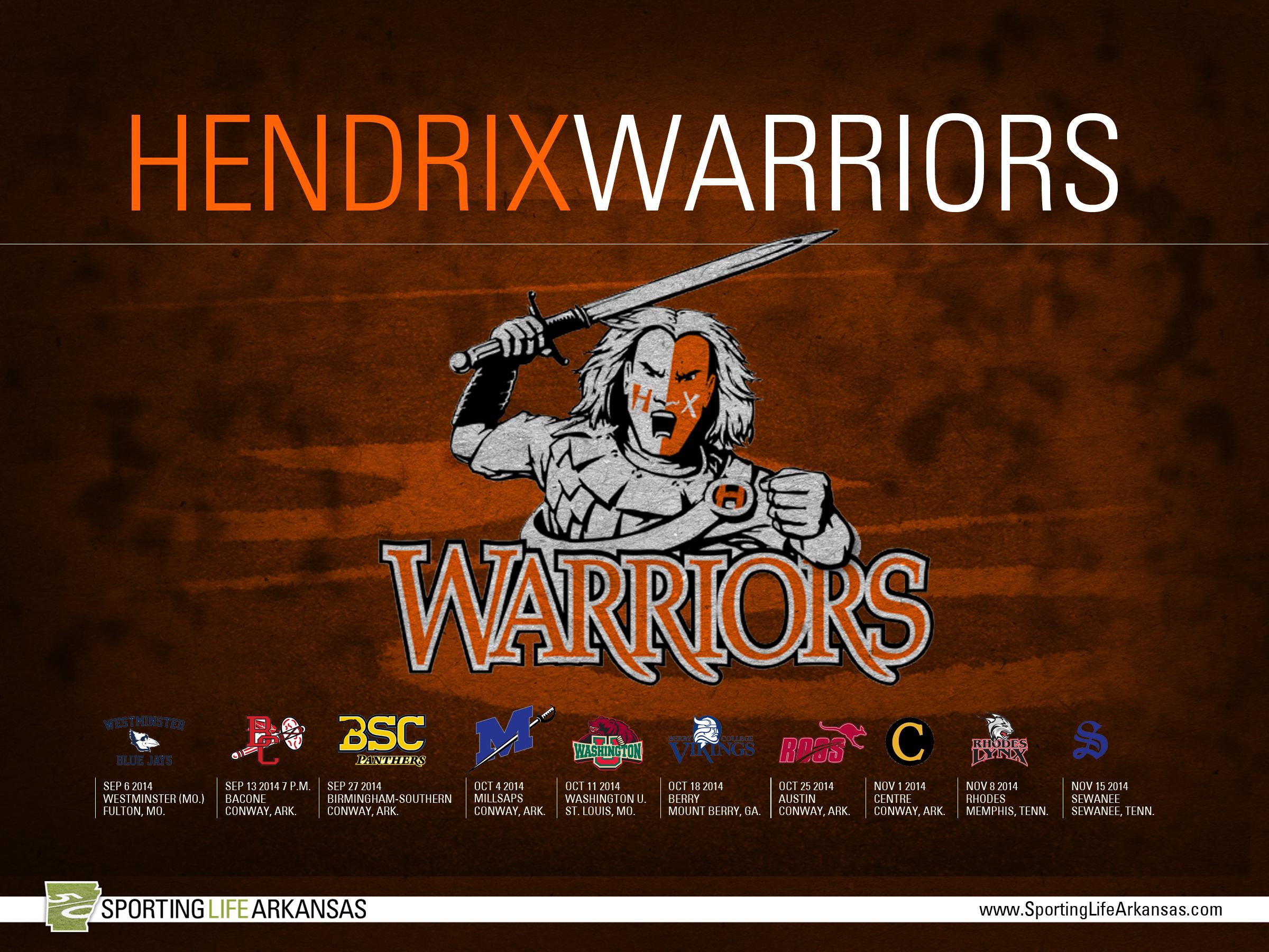 Here is your 2014 Hendrix College Warriors football schedule wallpaper 2400x1800