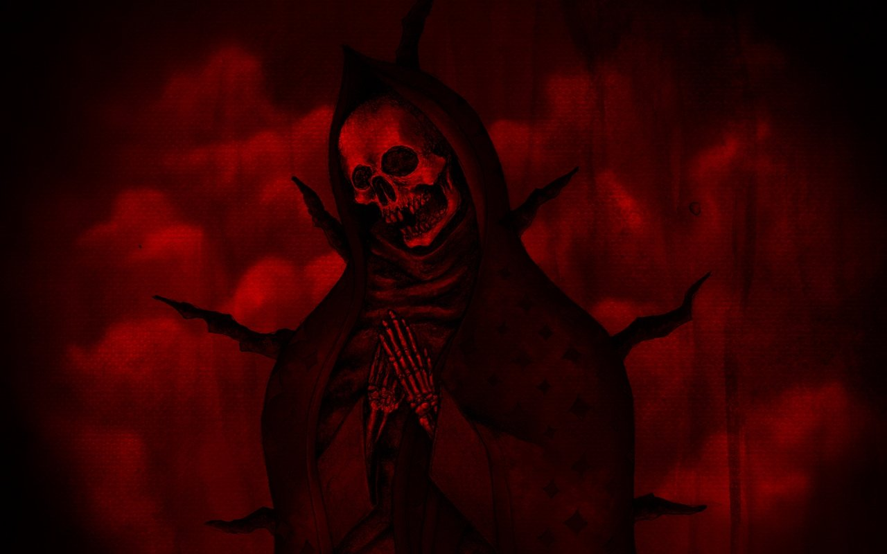Download Wallpapers Download 1280x800 death red skeletons 1280x800