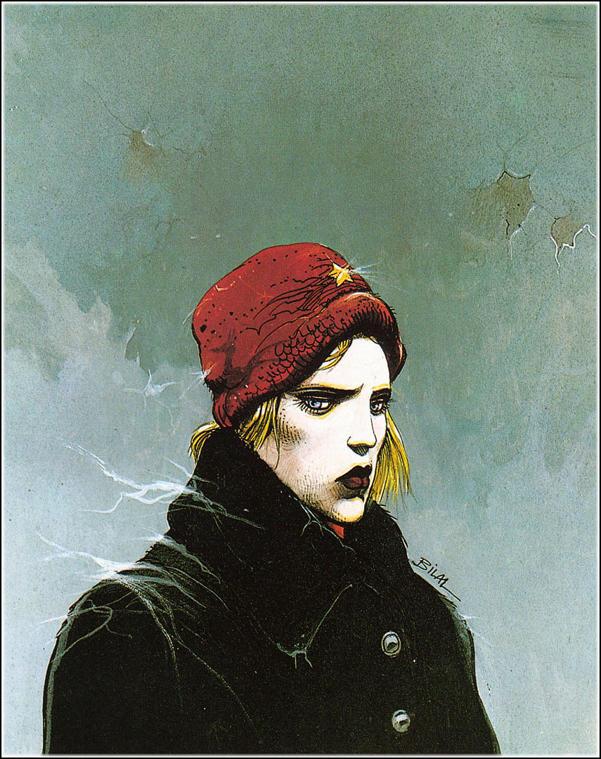 Red Hat   A illustration enki bilal art wallpaper picture 855x1080