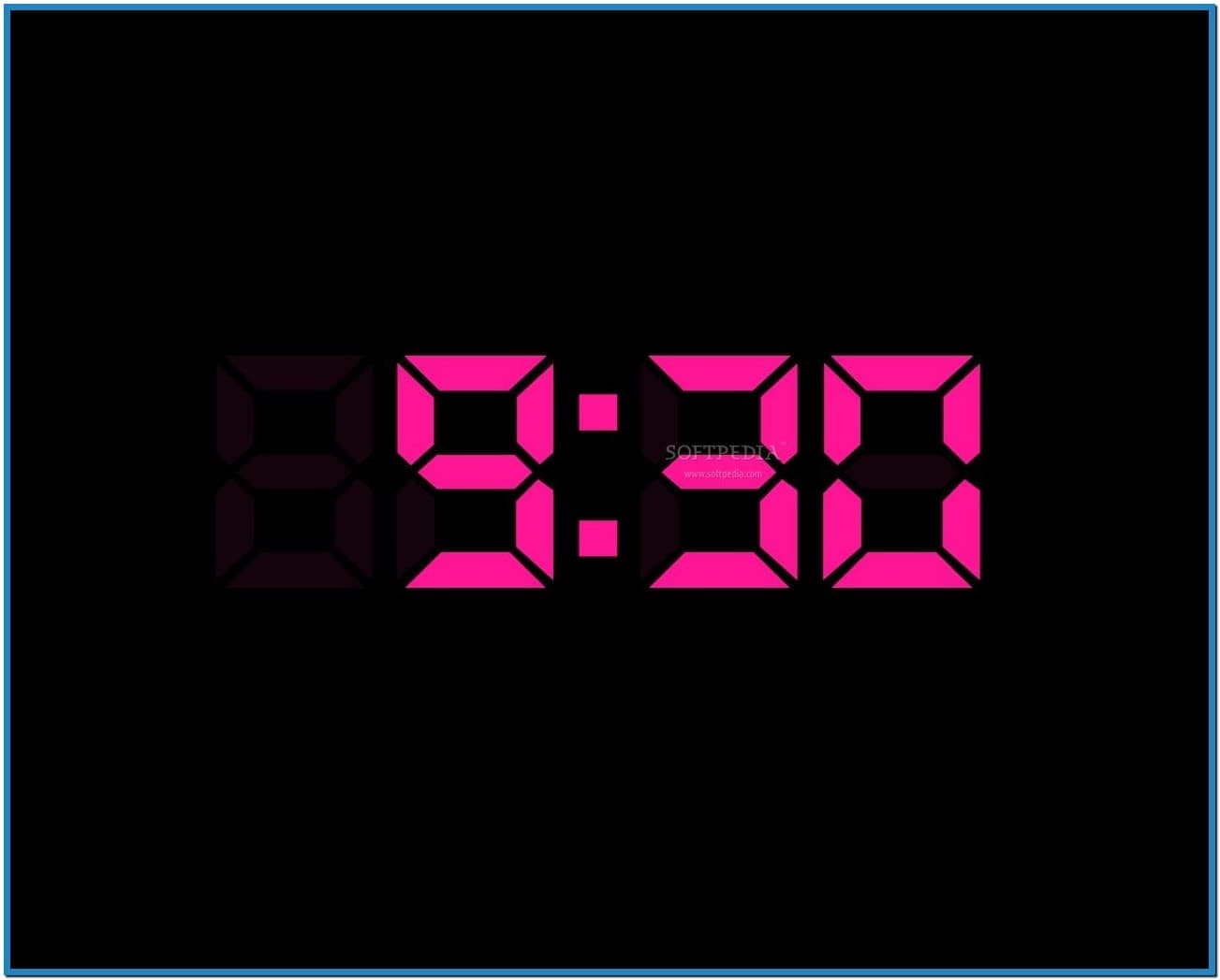 Digital clock screensaver for desktop   Download 1303x1047