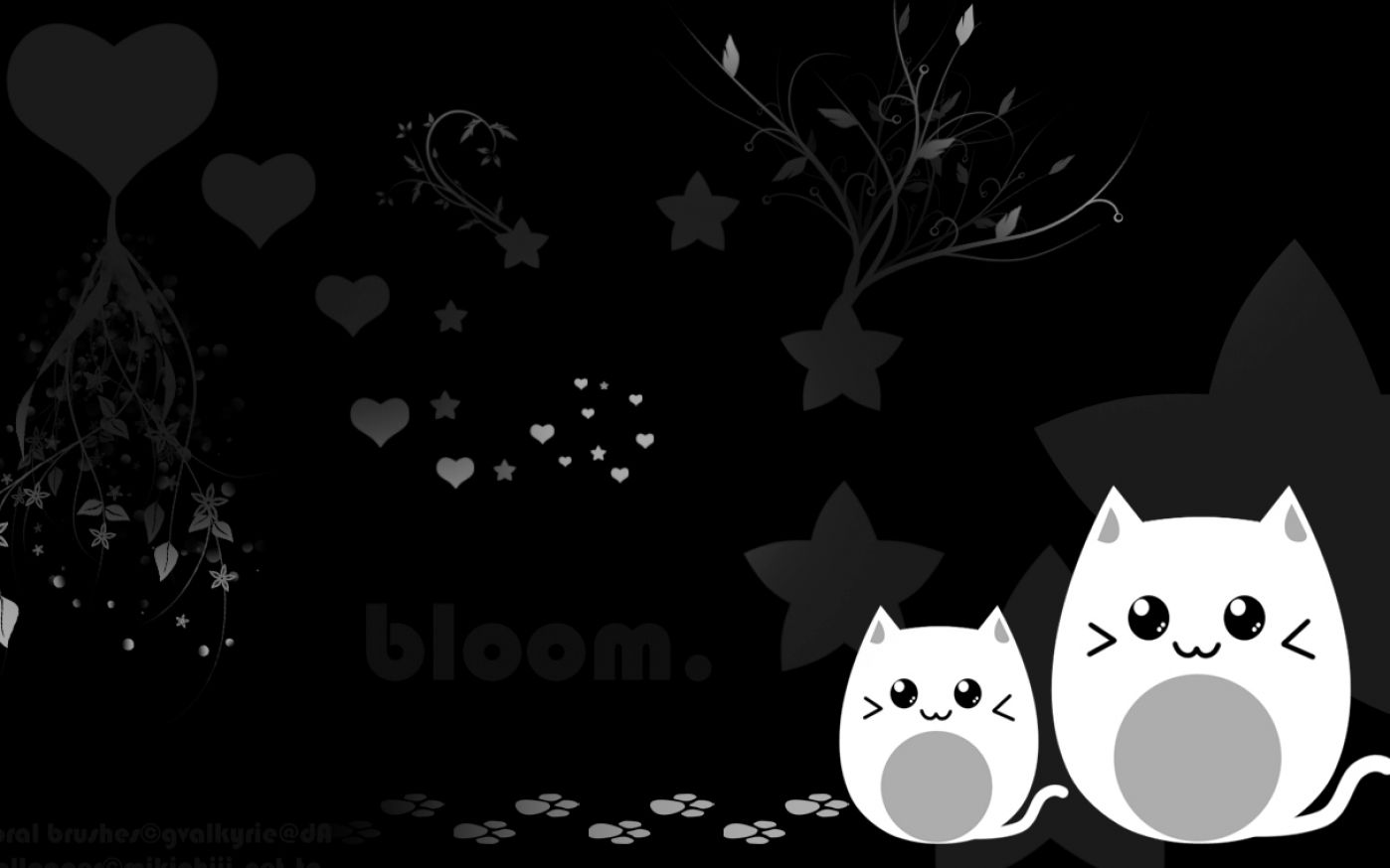 Cute black and white wallpaper pictures 1 1398x874