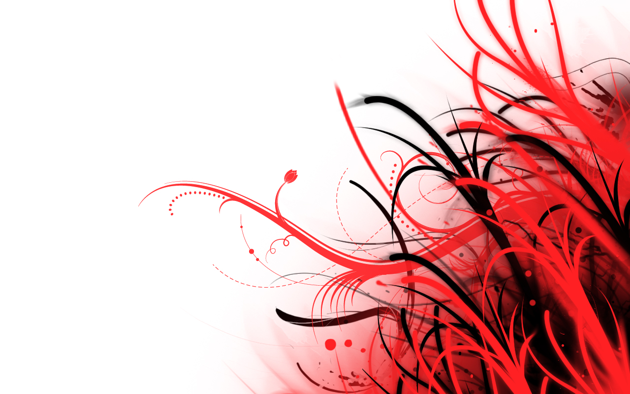 Abstract Wallpaper Red and White by PhoenixRising23 1280x800