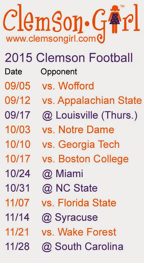 Clemson Football Schedule Search Results Inspire News n Info 500x909