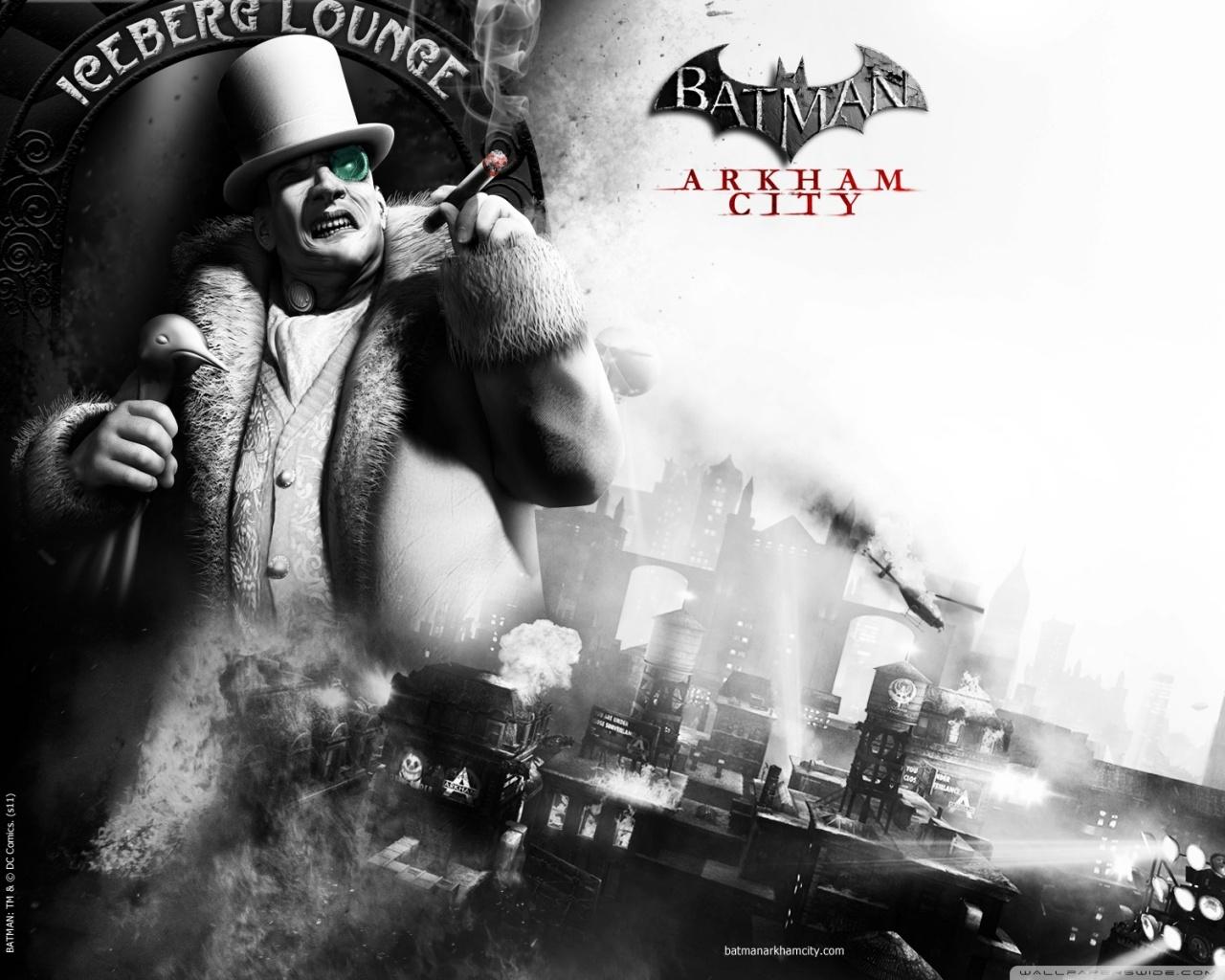 Batman Arkham City The Penguin 4K HD Desktop Wallpaper for 1280x1024