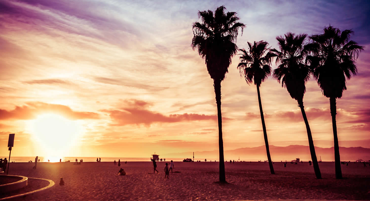 Venice Beach California Wallpaper 1500x816