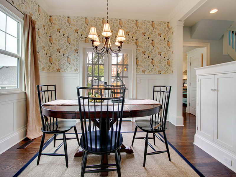 Farmhouse Dining Room Wallpaper Design Ideas Bloombety 800x600