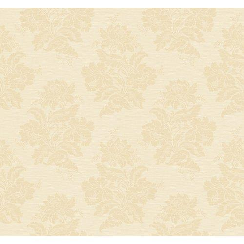 Wallcoverings GN2490 Orange and Yellow Book Two Tone Damask Wallpaper 500x500