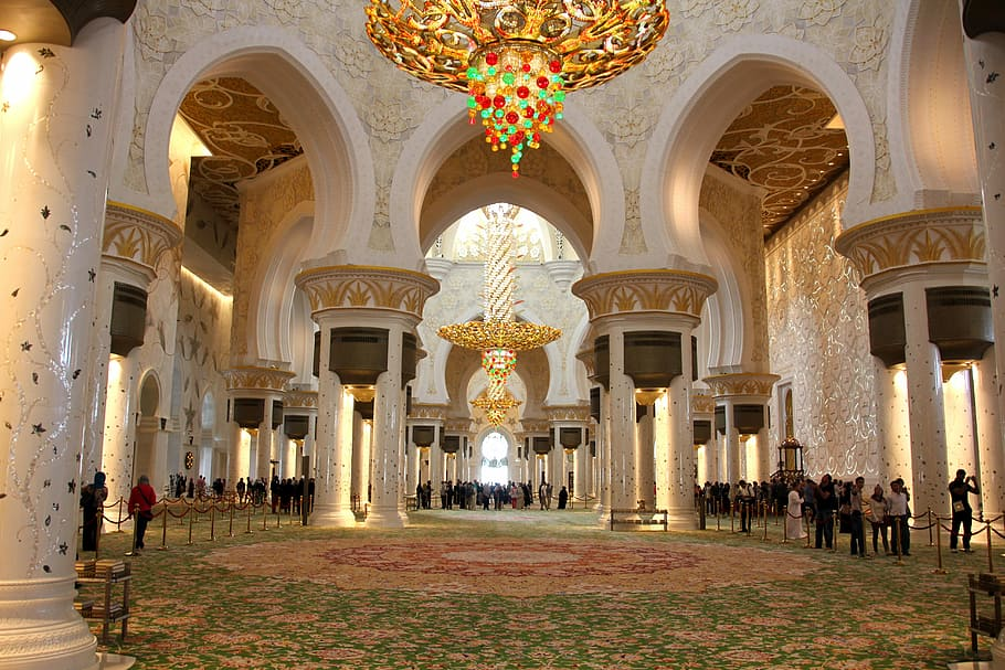 HD wallpaper Abu Dhabi Mosque Building Orient arch history 910x607