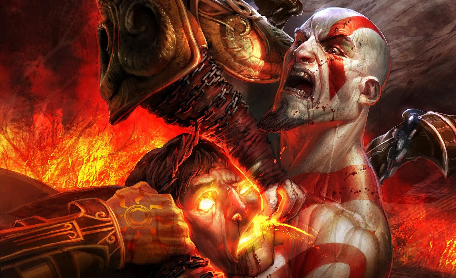 Background image vs img - God Of War Kratos Vs Helios Wallpaper Background Sony Action Img Image