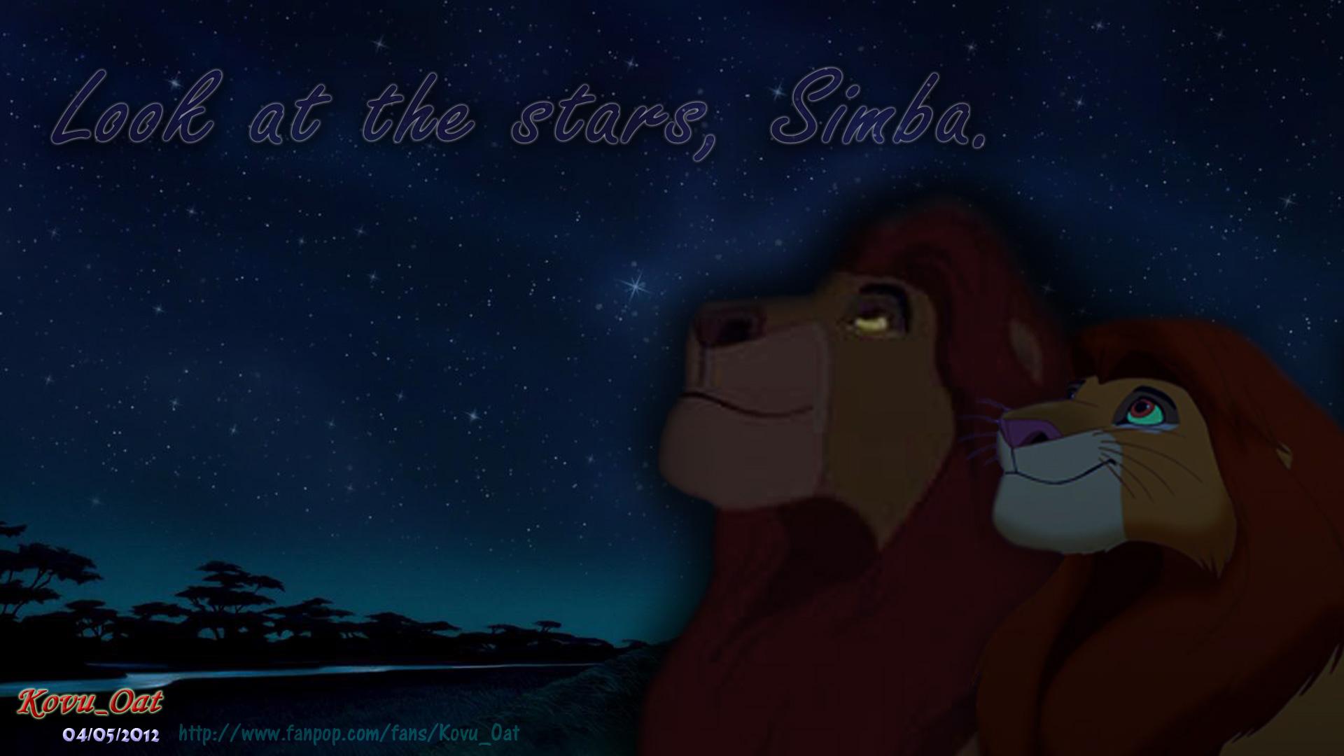 Mufasa and Simba night star Wallpaper HD 2   The Lion King Wallpaper 1920x1080