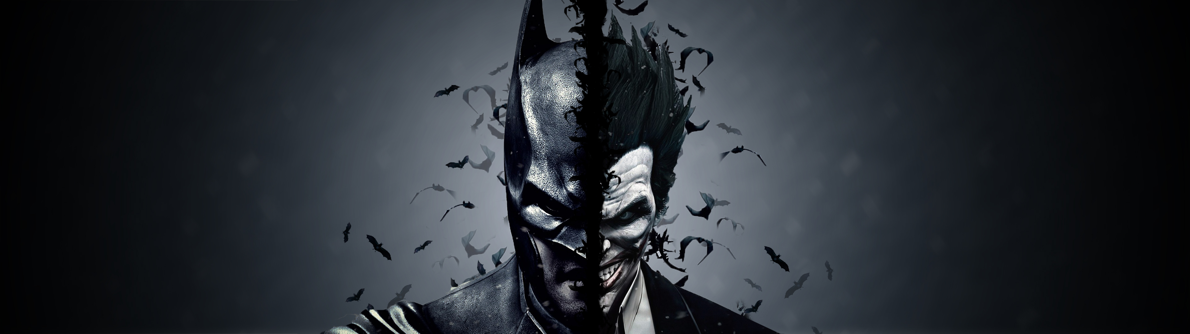 Download 85 Joker Wallpaper The Dark Knight The 3840x1080