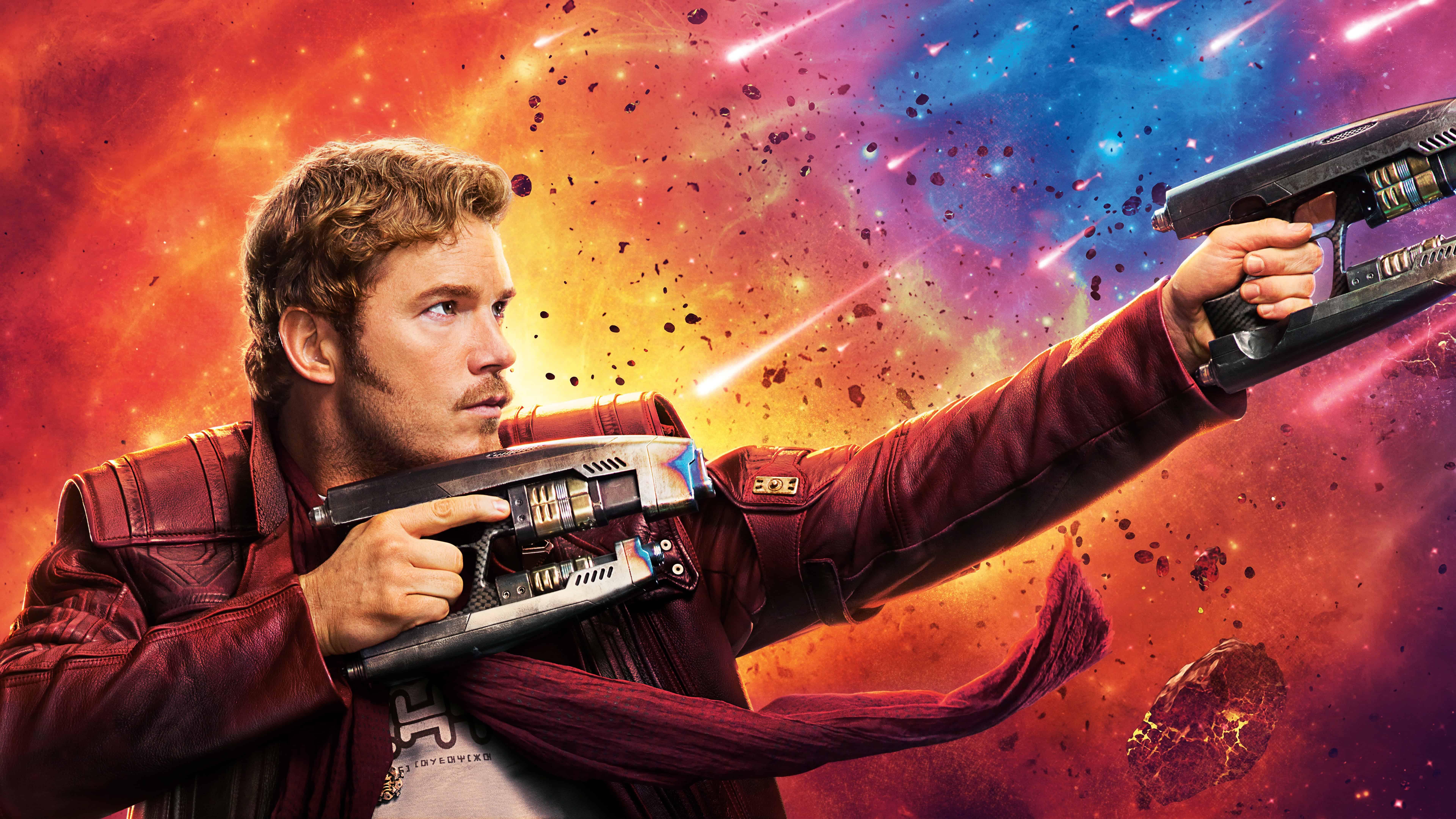 Guardians Of The Galaxy Vol 2 Star Lord Chris Pratt UHD 8K 7680x4320