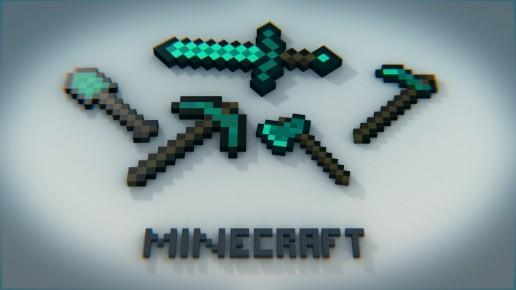 Minecraft diamond tools   Game wallpaper desktop wallpaper   Full HD 516x290