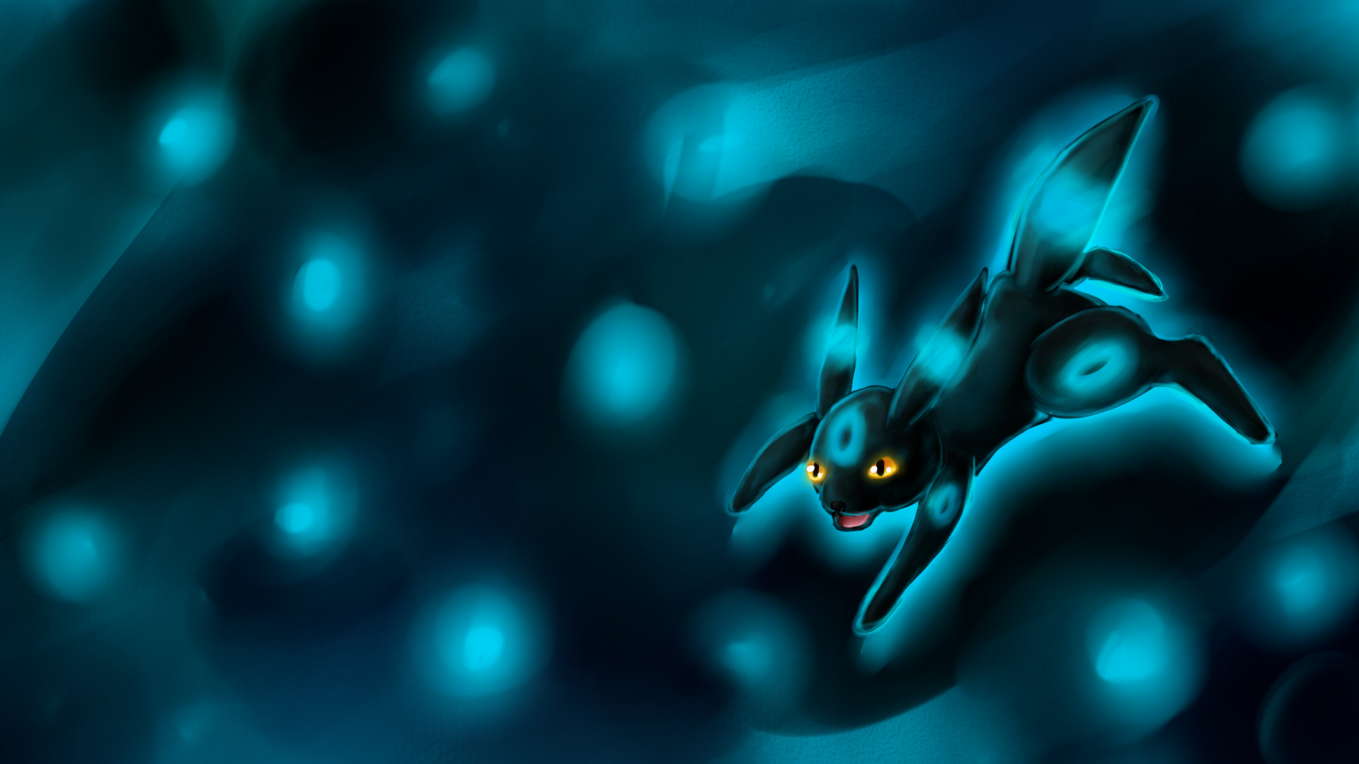 Sparkling Shiny Umbreon Wallpaper by Chicorii 1920x1080