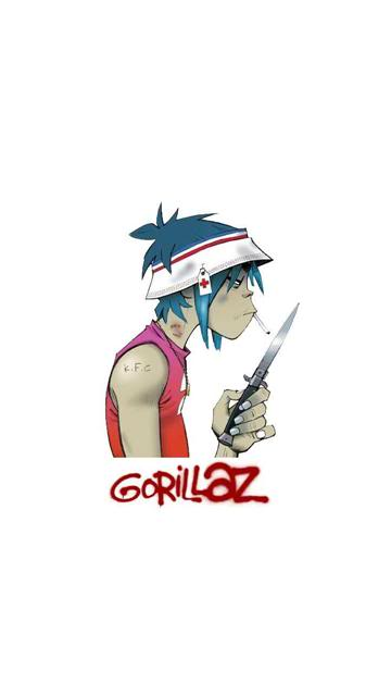 2D Wallpaper Gorillaz - WallpaperSafari | 360 x 640 jpeg 12kB