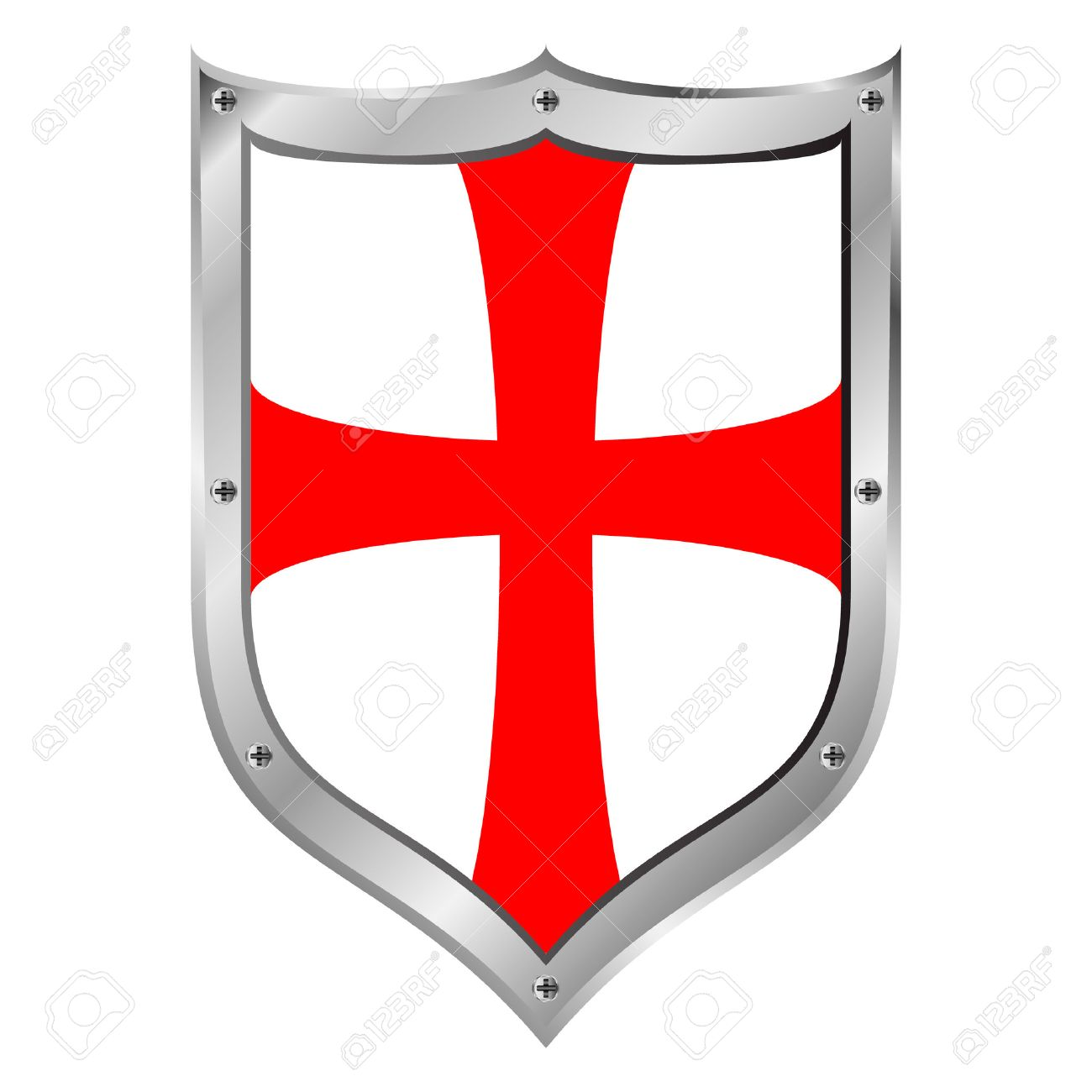 Knights Templar Shield On White Background Royalty Cliparts 1300x1300