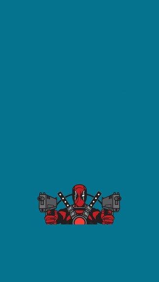Deadpool Guns iPhone 6 6 Plus wallpaper 324x576