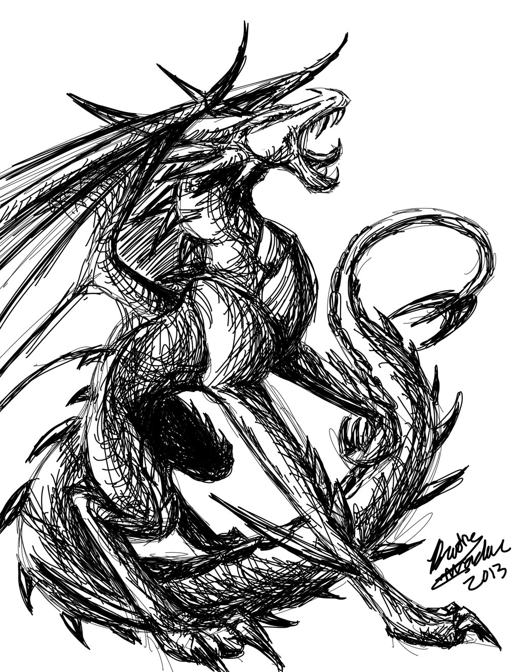 Black And White Dragon Pictures   Wallpaper HD Wide 1024x1325