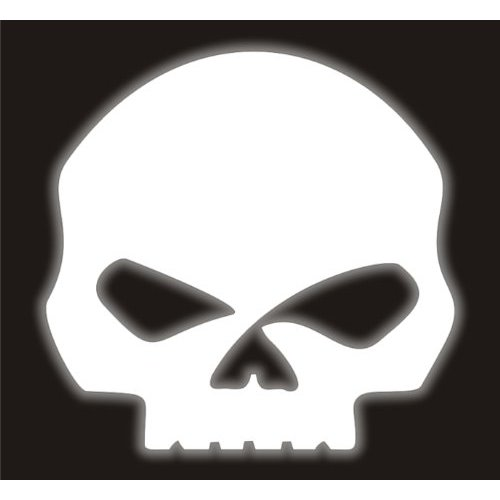 Willie G Skull Decal 500x500