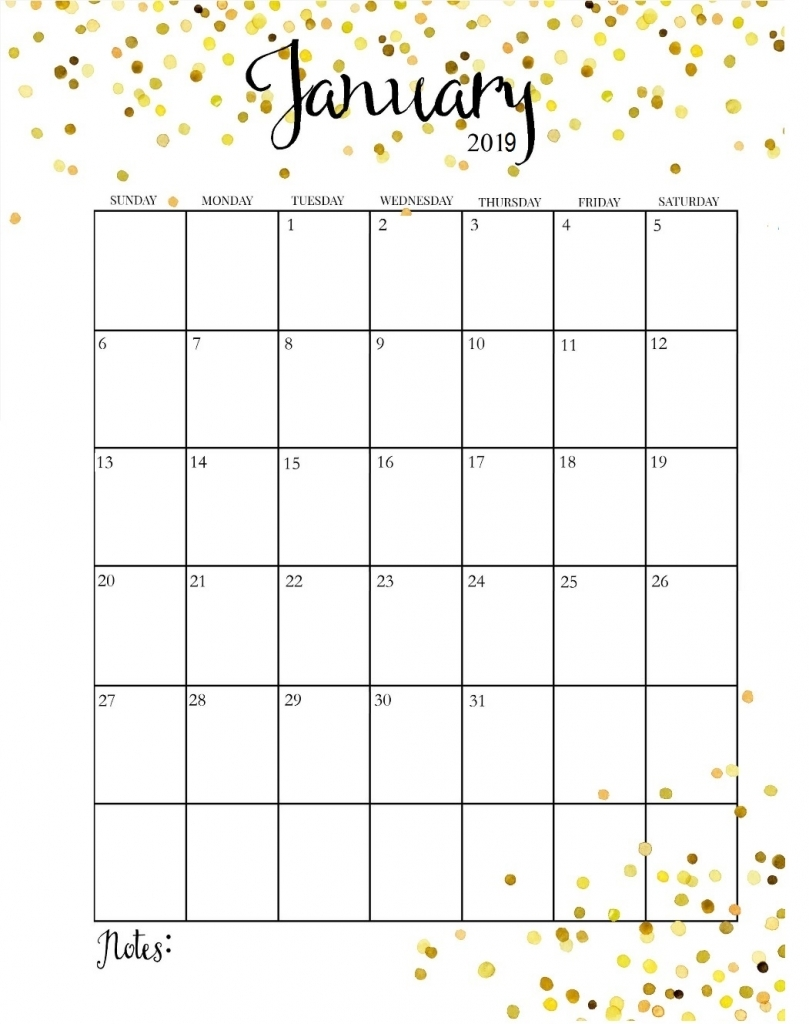 Pretty January 2018 Calendar 2018 Calendar Printable 809x1024