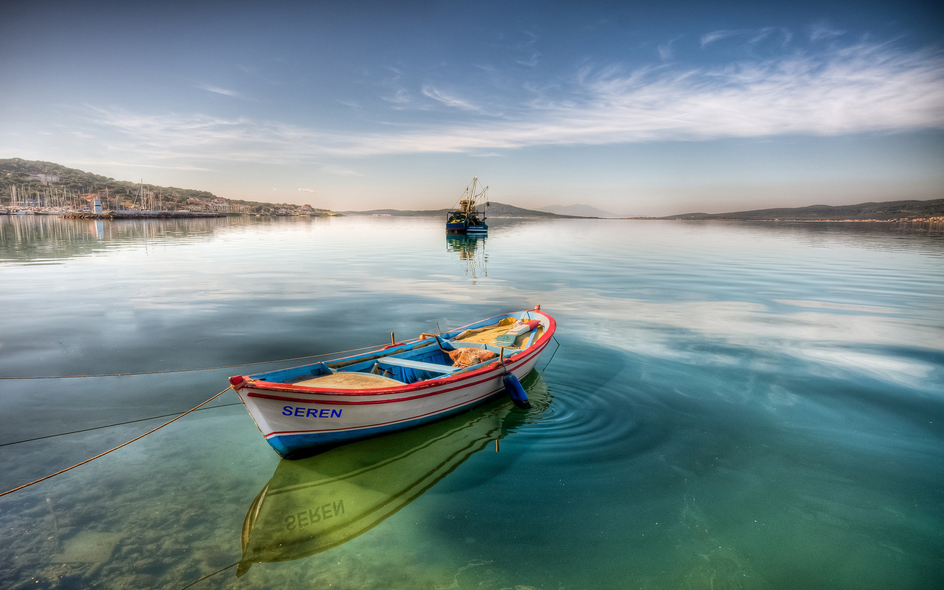 Boat named Seren 1920 x 1200 Water Photography 1920x1200