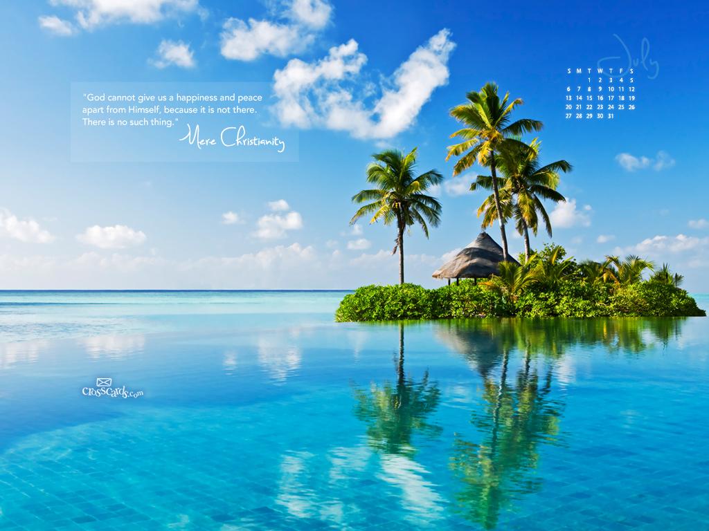 July 2014   Mere Christianity Desktop Calendar  Monthly Calendars 1024x768