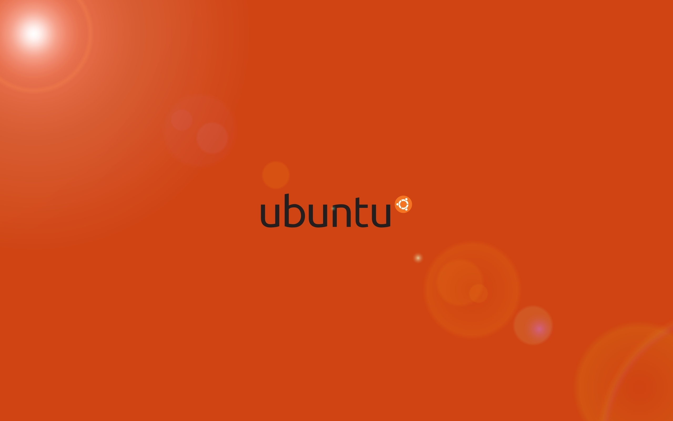 Orange ubuntu HD Wallpapers 2560x1600
