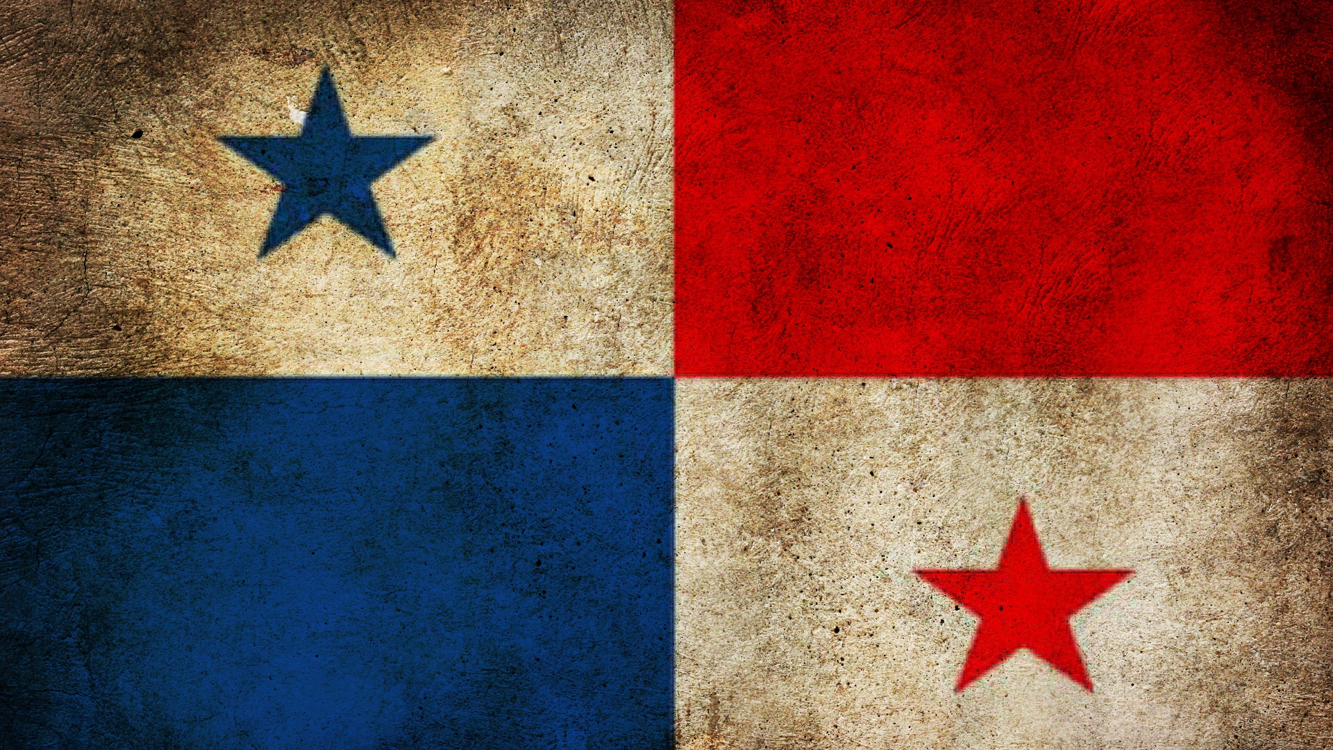 Download wallpaper 1920x1080 panama flag mud texture full hd 1920x1080