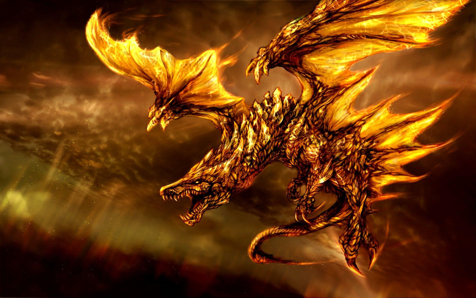 Gold Skin Chinese Dragon Wallpapers 3D Desktop WIdescreen 1920x1200