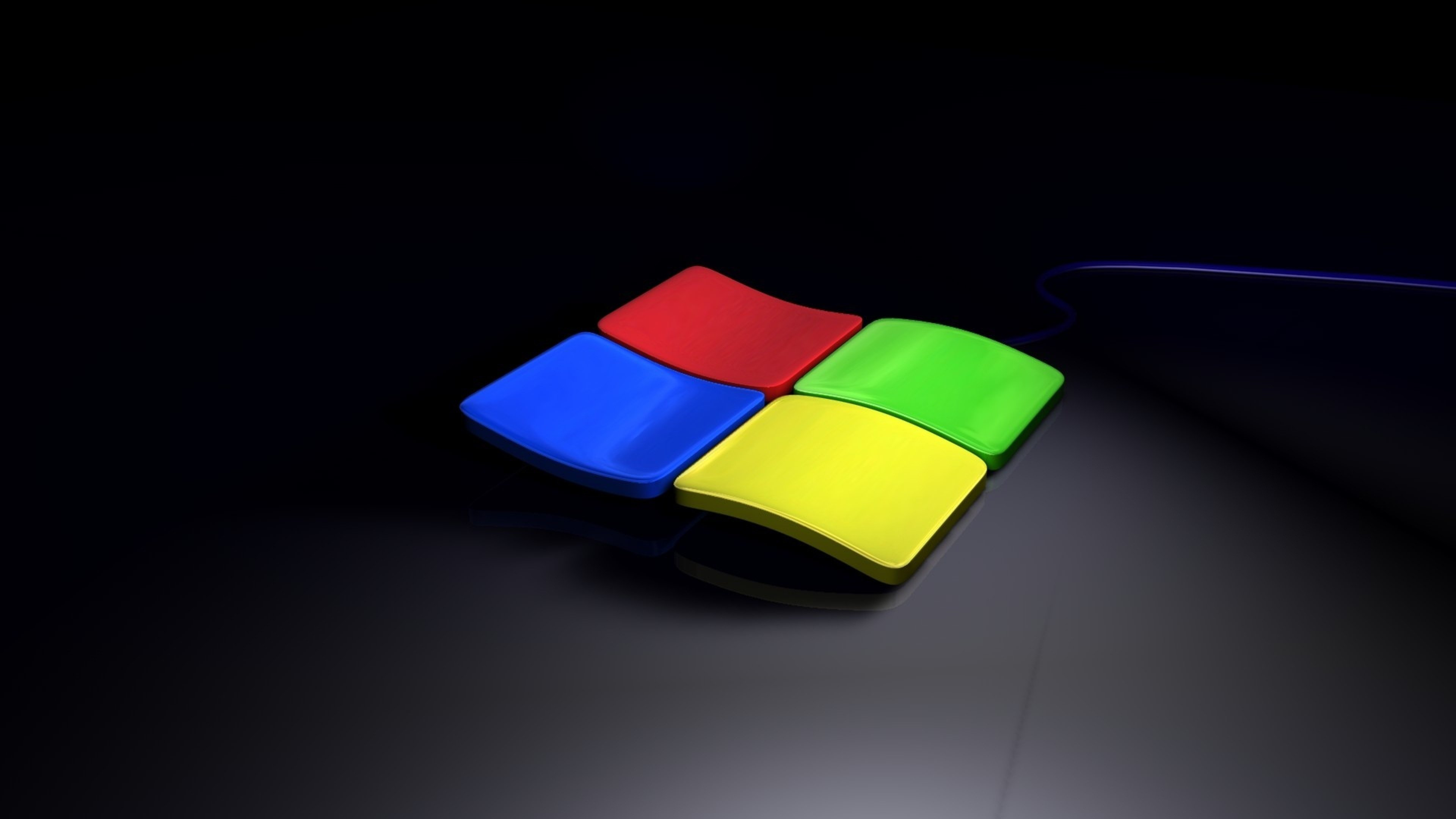 Download 3840x2160 Windows 7 Style Computer Wallpaper Background 4K 3840x2160