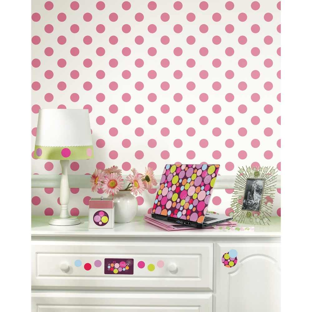 Removable Wall Decals   Mega Dots Wallpaper   White Black I Wall 1000x1000
