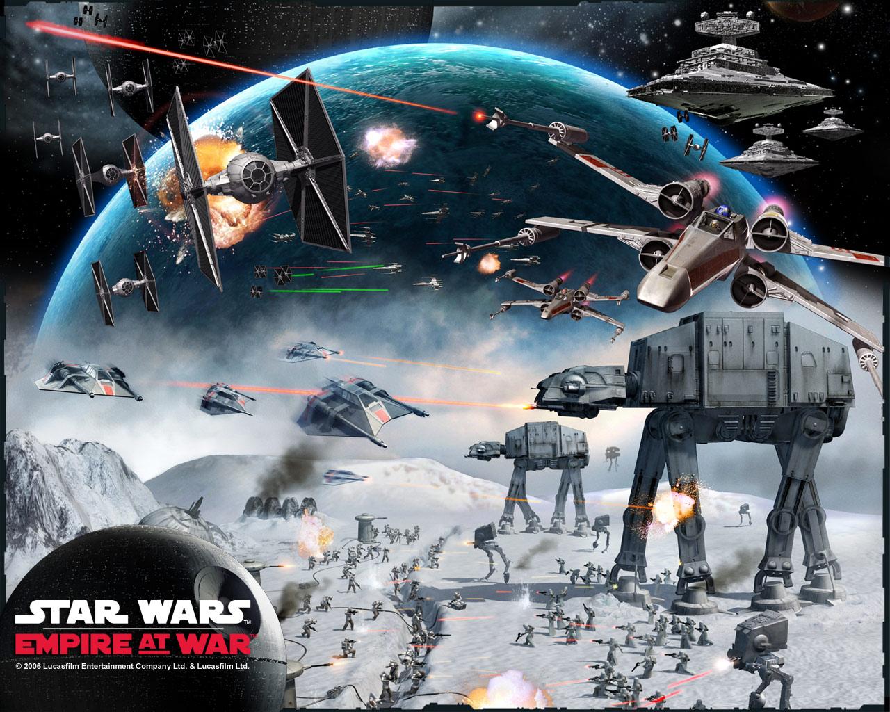 Star Wars Snow Battle Star Wars Wallpaper 1280x1024