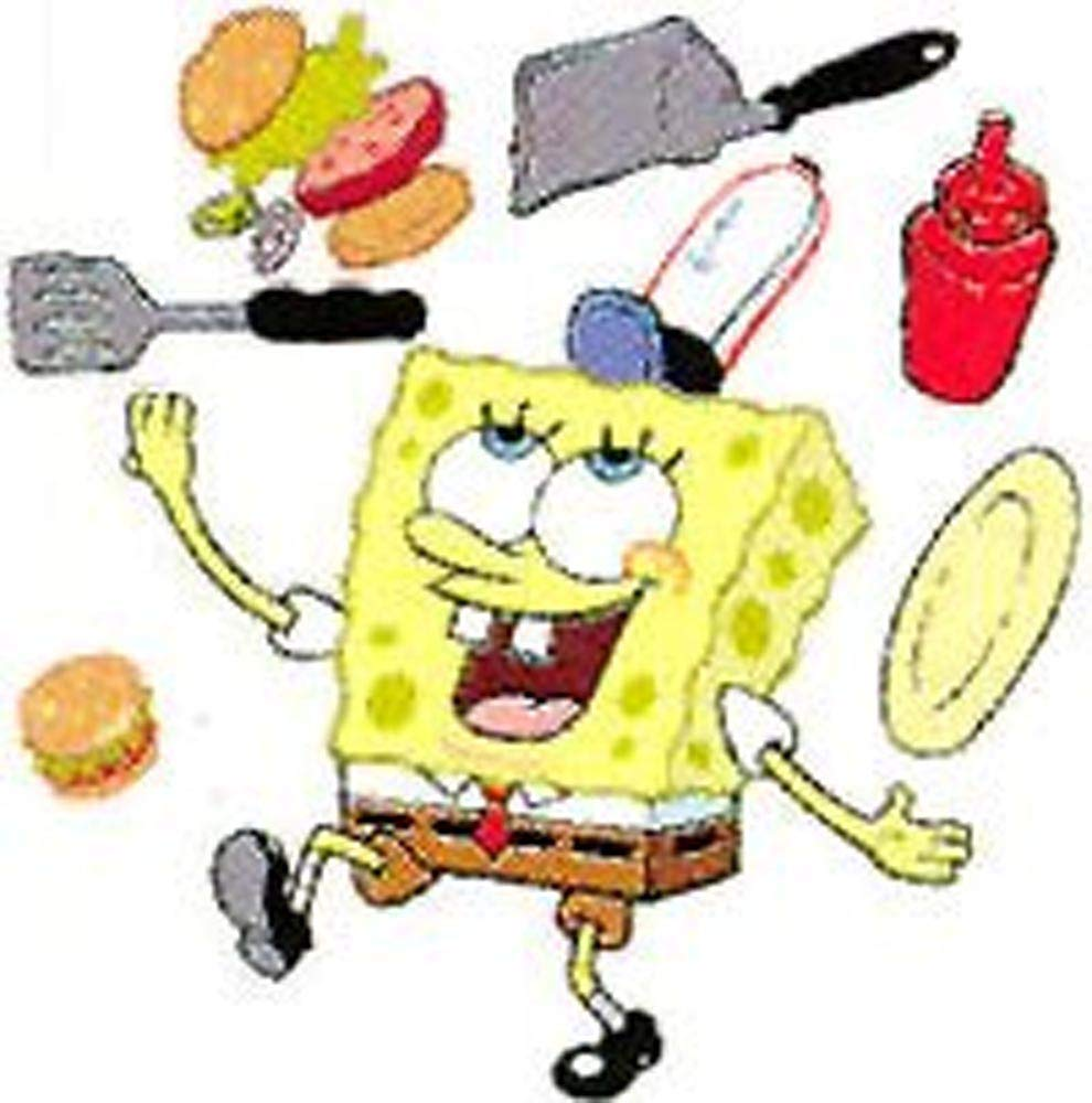 BU SPONGEBOB Krusty Krab WALL APPLIQUES wallpaper kid room 990x1000