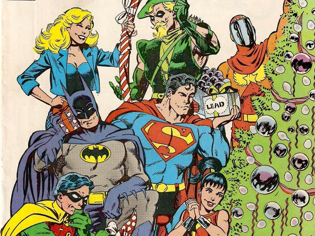 de Parede Gratuito de Quadrinhos Quadrinhos Clssicos   Natal da DC 1024x768