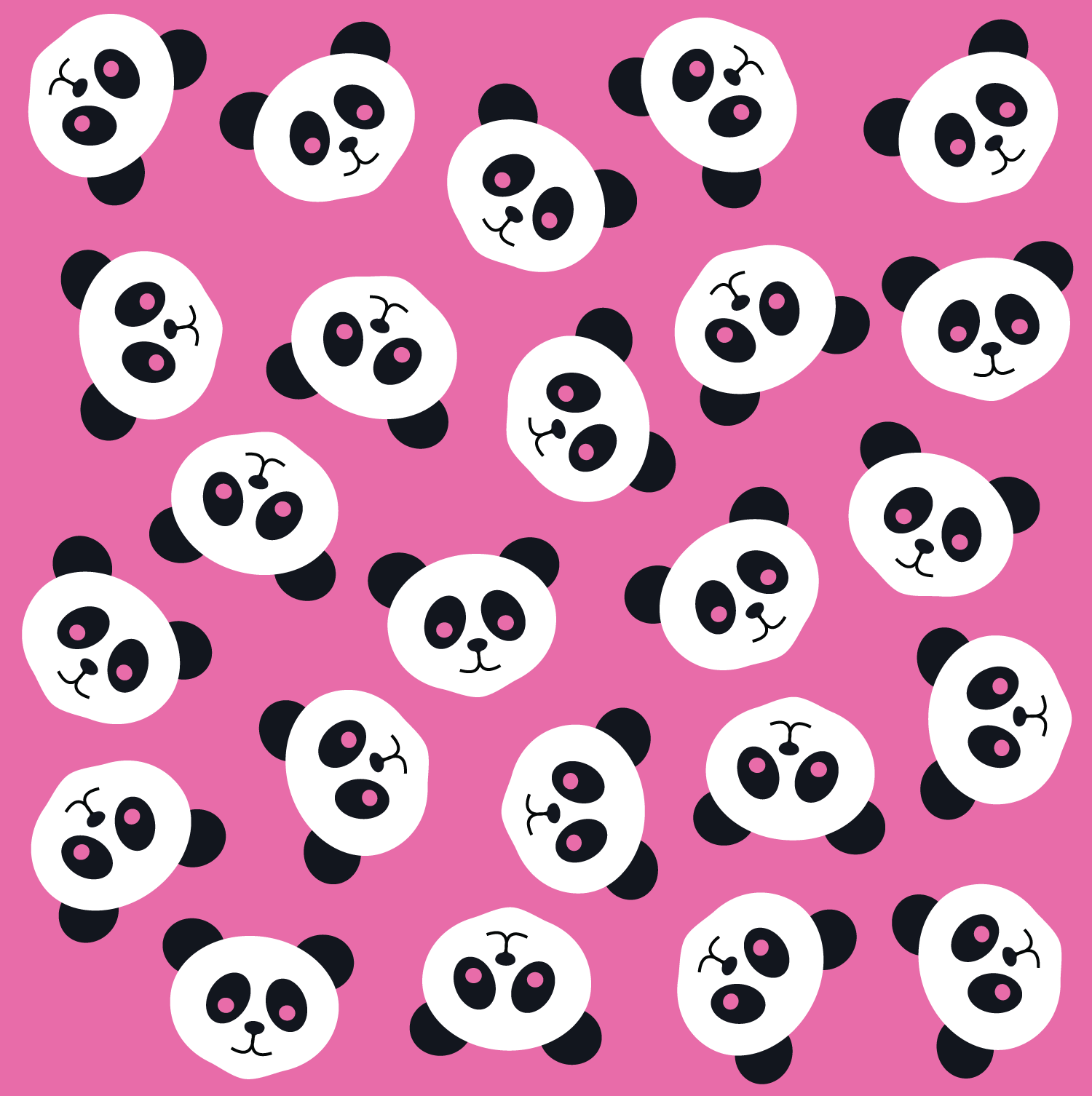 Pink Panda Wallpaper - WallpaperSafari