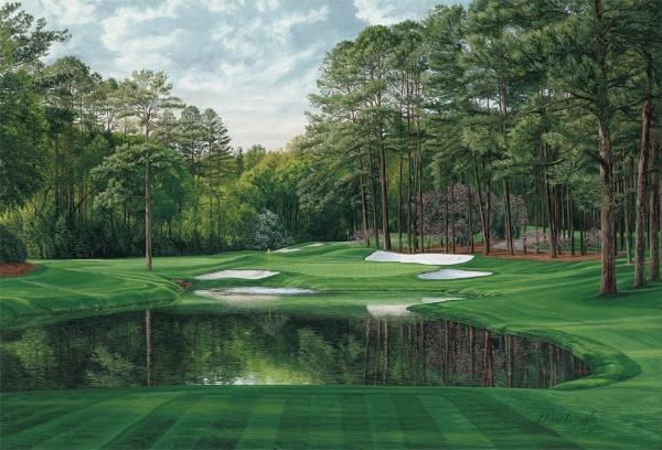 The 16th Hole Redbud Augusta National Golf Club 600x408