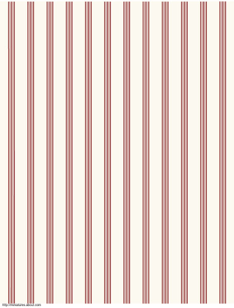 printable dolls house wallpaper striped red on cream coordinates 455x600