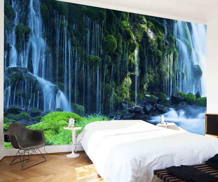 Waterfall landscape Mural wallpaper Natural scenery full Wall Murals 750x628