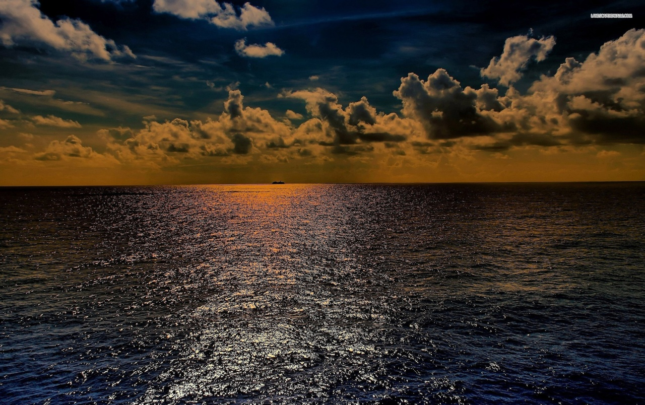 Awesome Ocean Clouds Sunset wallpapers Awesome Ocean Clouds 1280x804