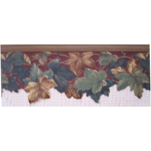 Brown Scalloped Wallpaper Border 500x500
