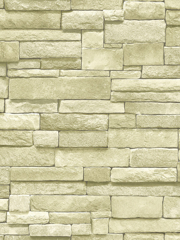 Stacked Stone Brick Wallpaper Cream Beige Textured Vinyl SF084802 600x800