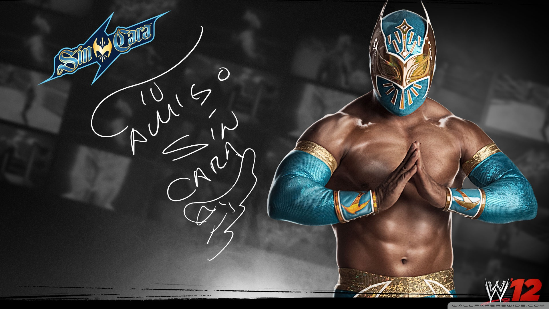 Sin Cara WWE 12 Signature Poster 1920x1080 HD Wallpaper Sport 1920x1080