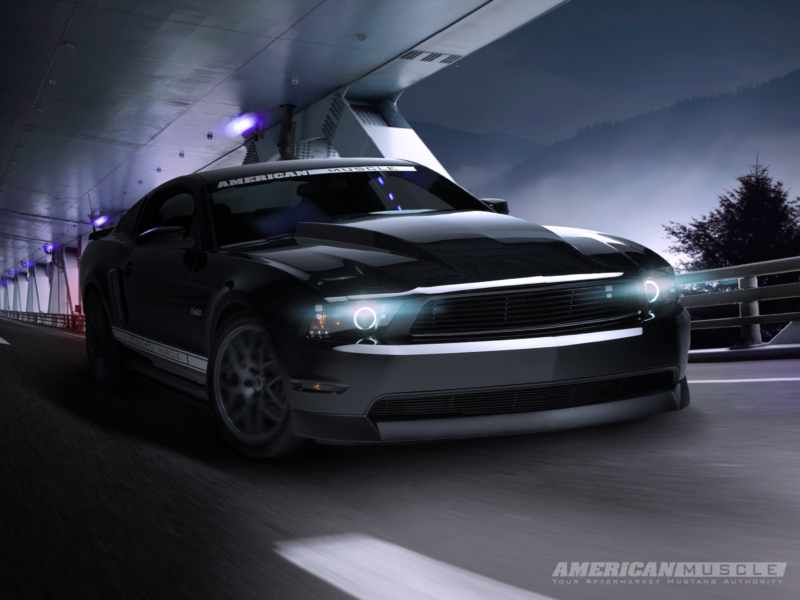 Mustang Night Cruiser Desktop Background Wallpaper Parts for Mustang 1600x1200