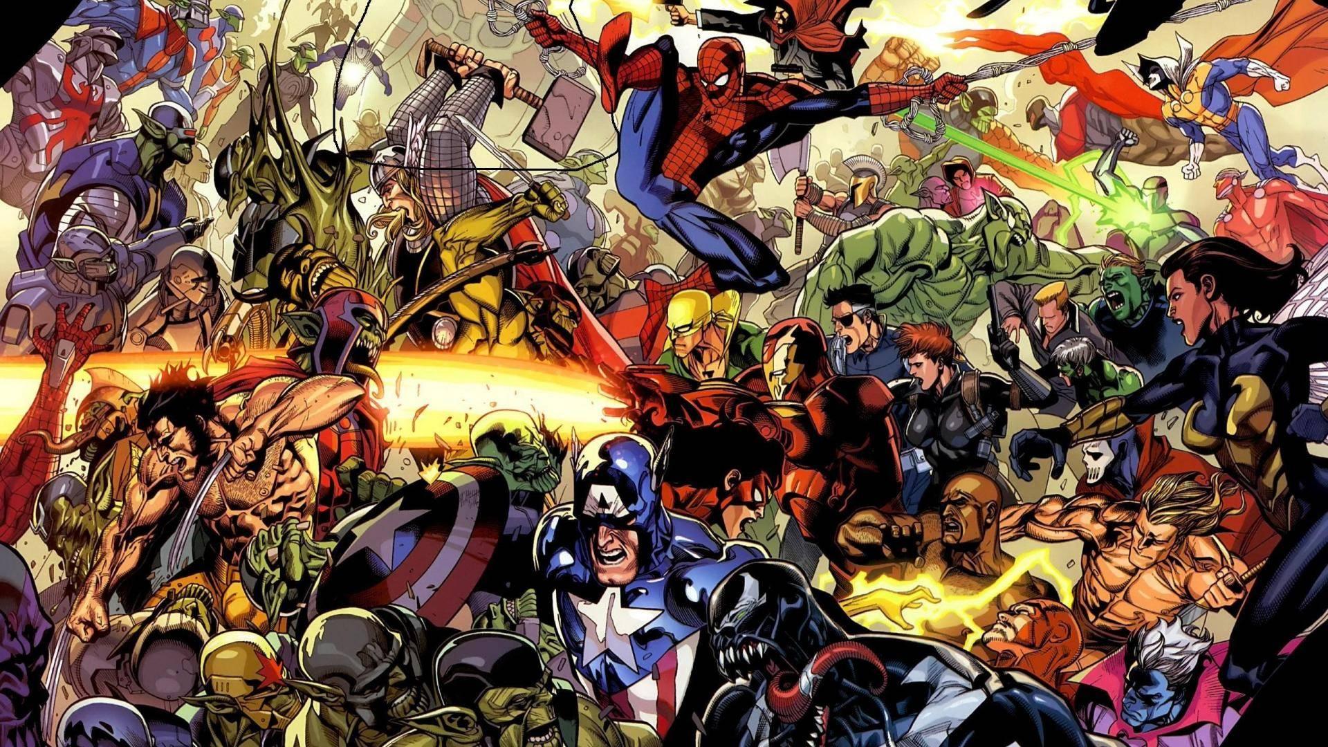 super heros time   Marvel Wallpaper 1920x1080