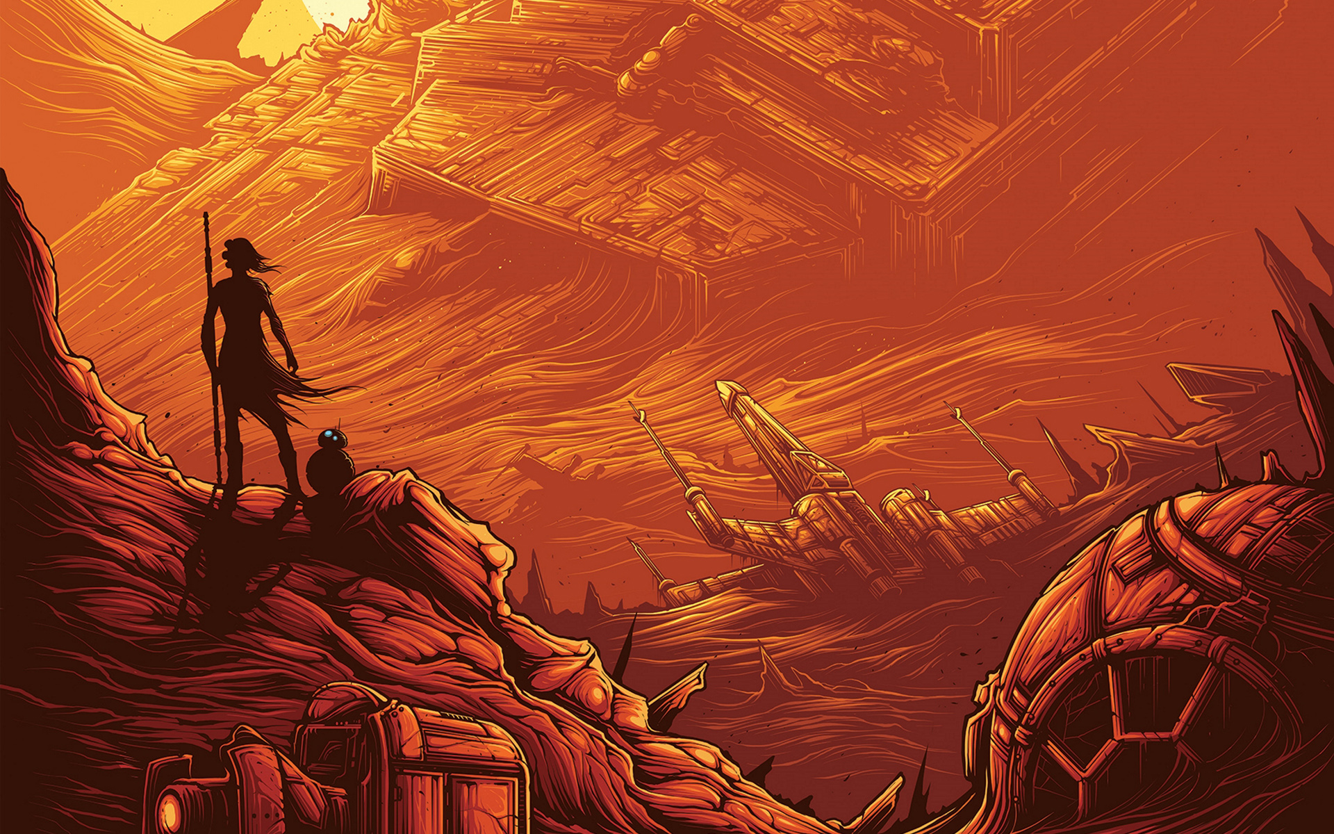 Rey BB 8 Star Wars Wallpapers HD Wallpapers 1920x1200