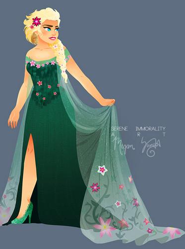 Elsa Frozen Fever Fan Art 37948141 Fanpop 373x500