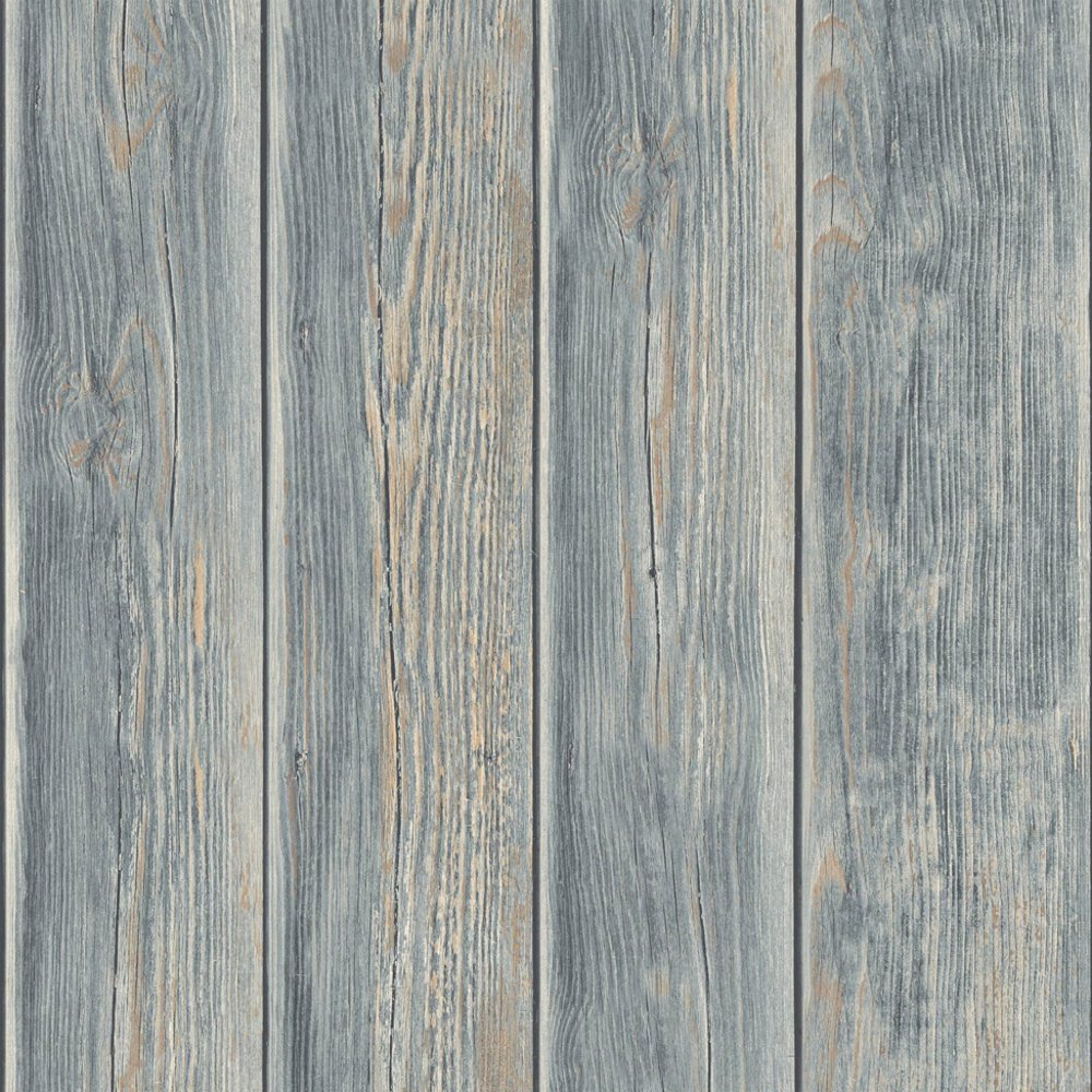 Horizontal weathered barn wood wallpaper wallpapersafari for Faux wood siding
