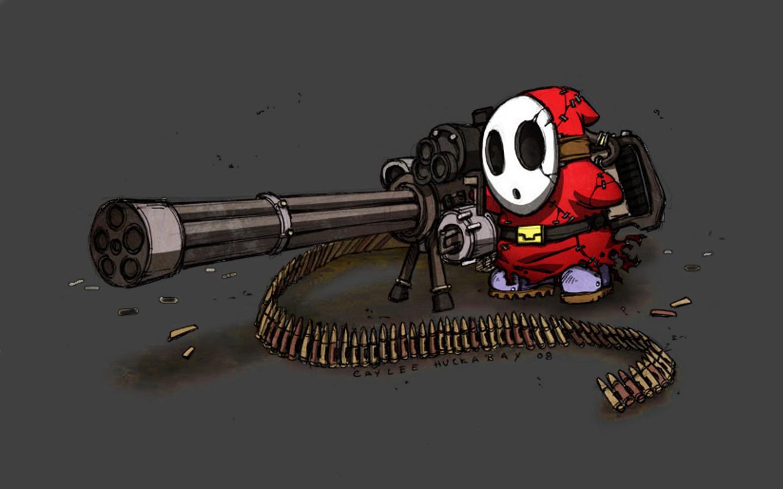 Overkill Gatling Gun Wallpaper Overkill Gatling Gun iPhone Wallpaper 1440x900