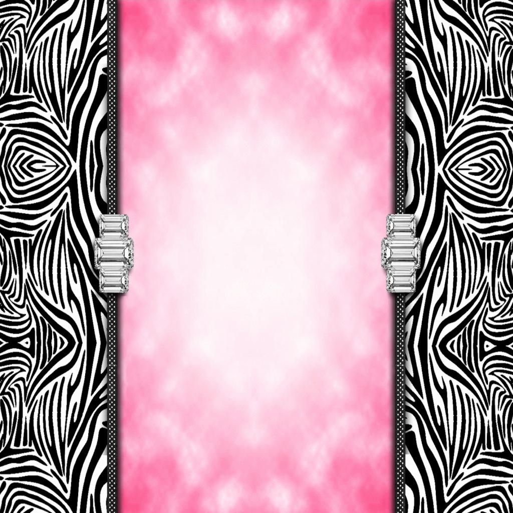 WalliePad Wallpapers for iPad Zebra Print Bling iPad Wallpaper 1024x1024