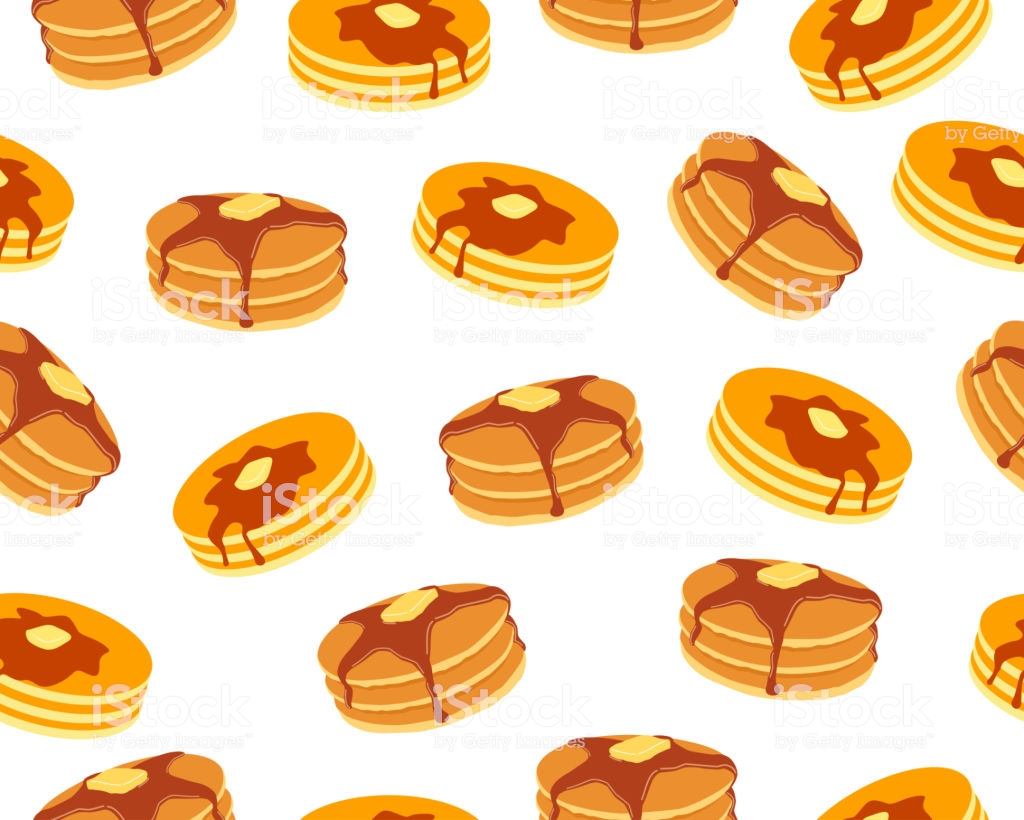 Seamless Pattern Of Pancakes With Butter And Maple Syrup Sweet On 1024x820